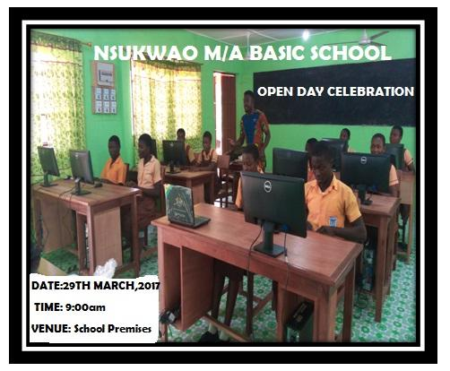 Nsukwao MA Basic School & JSS showcasing their New ICT Lab