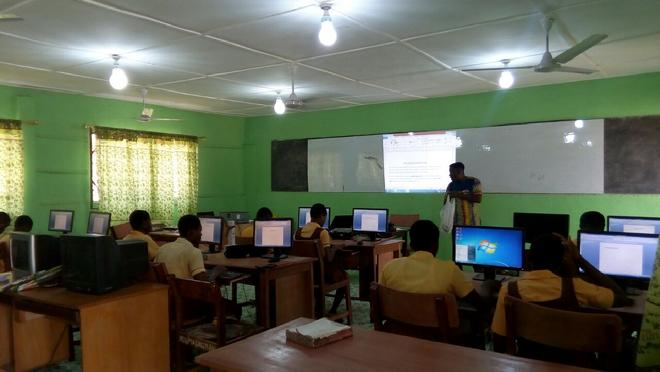 Nsukwao MA Basic School's New ICT Lab, March 2017